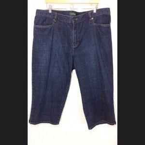 NWOT Ralph Lauren Capris Jeans 20W